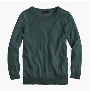 J. Crew Tippi Merino Wool Sweater Green Sherwood